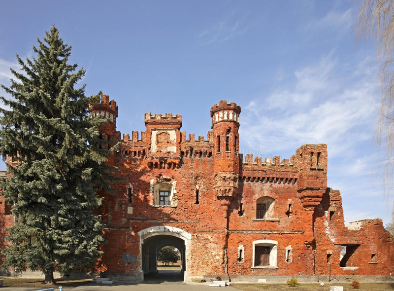 布雷斯特Litovsk fortres Kholm门在布雷斯特布雷斯特 免版税库存照片