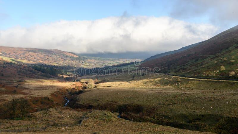 布雷肯比肯斯山风景视图 库存图片