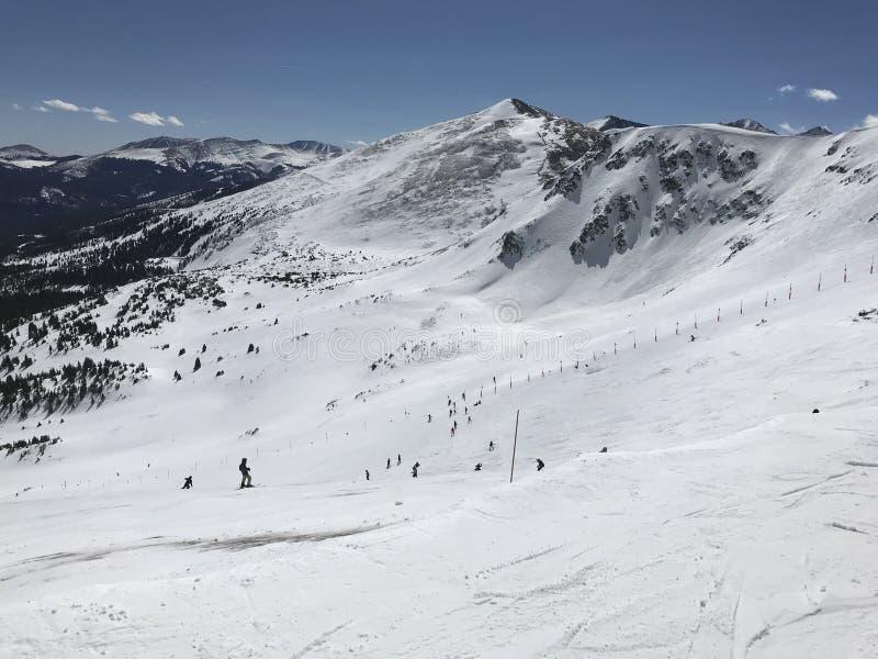 布雷肯里奇滑雪看法从上面倾斜 免版税库存图片