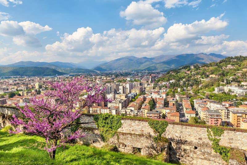 布雷西亚,意大利的北部部分 免版税库存照片