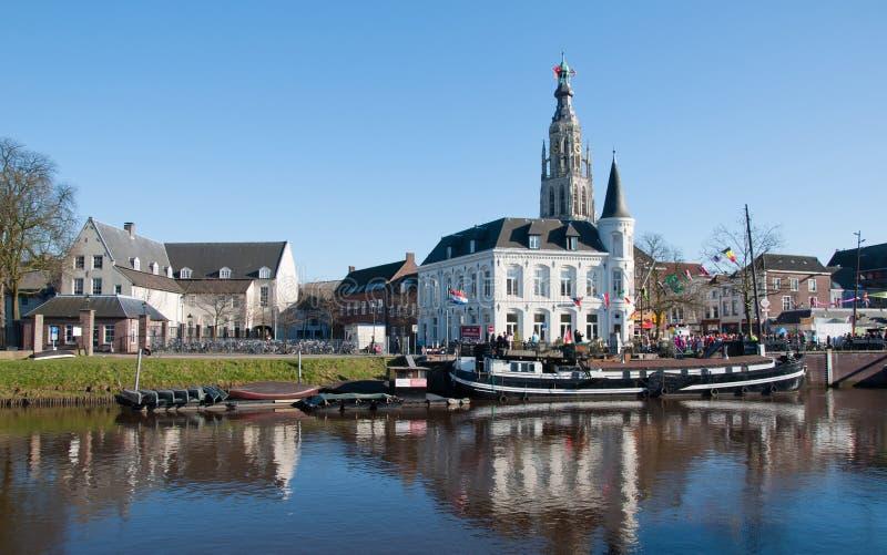 布雷达市荷兰视图 免版税库存照片