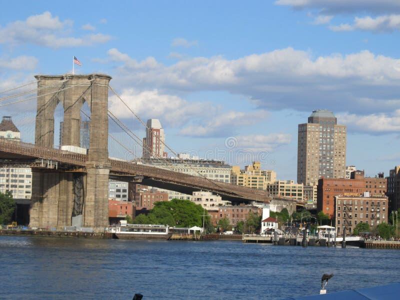 布鲁克林大桥看法  免版税图库摄影