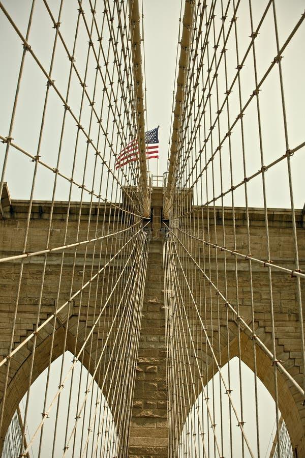 布鲁克林大桥,纽约著名地标 库存图片