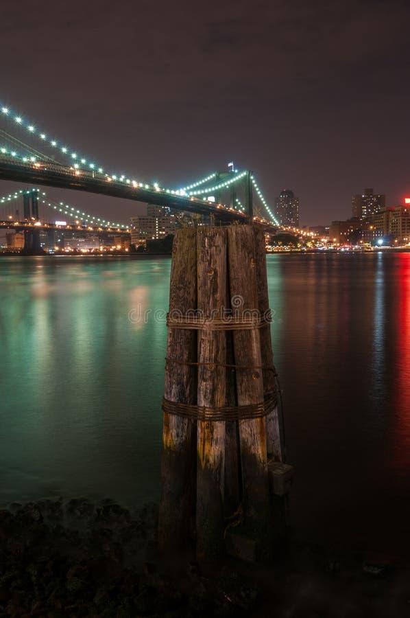 布鲁克林大桥-纽约 库存照片