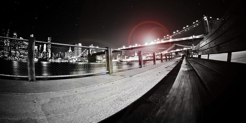 布鲁克林大桥 免版税库存图片