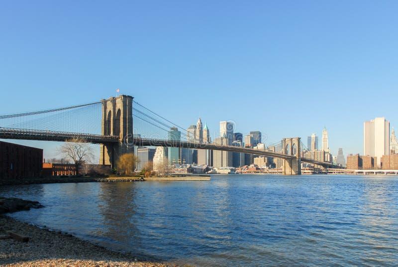 布鲁克林大桥- NYC 库存照片