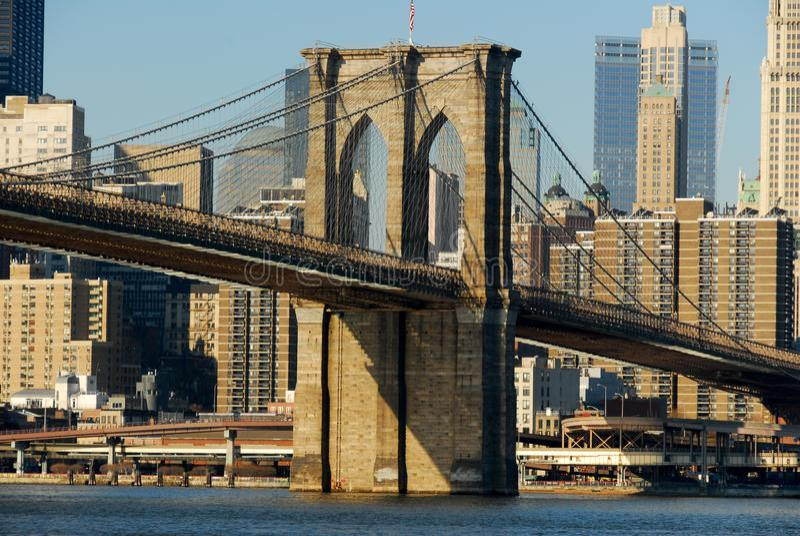 布鲁克林大桥- NYC 免版税库存照片