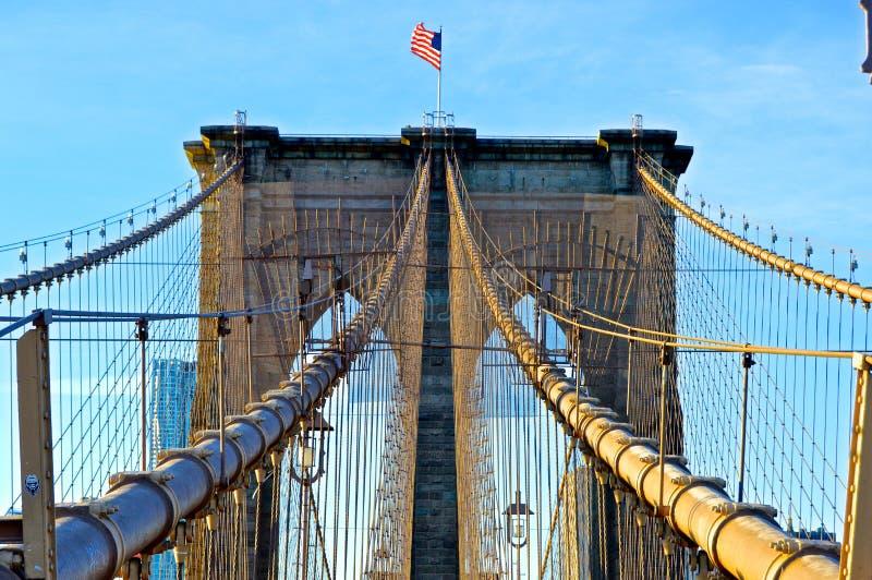布鲁克林大桥Simetry 免版税库存图片