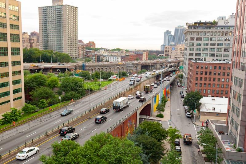 布鲁克林女王Expy街I-278在纽约 免版税库存图片