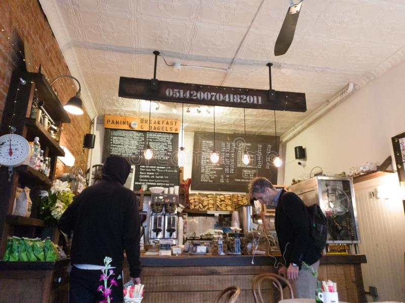 布鲁克林早餐和百吉卷地方 库存照片