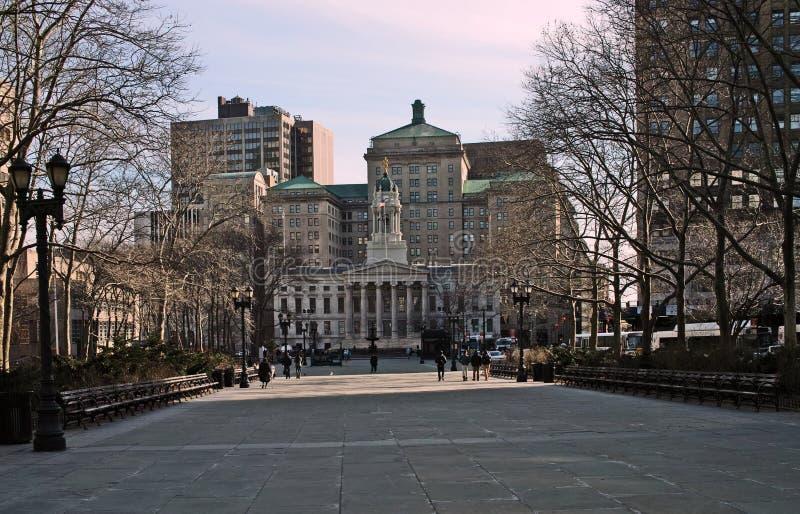 布鲁克林自治市镇霍尔,纽约,美国 免版税库存照片