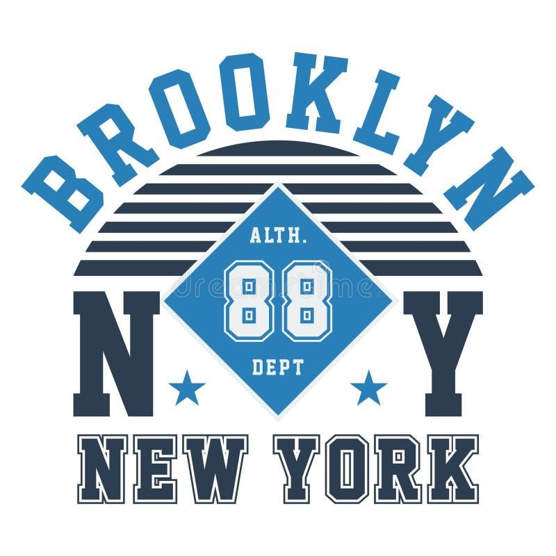布鲁克林ny纽约 皇族释放例证