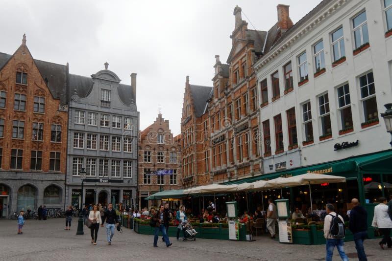 布鲁基,在最美丽的城市中在比利时1 库存图片