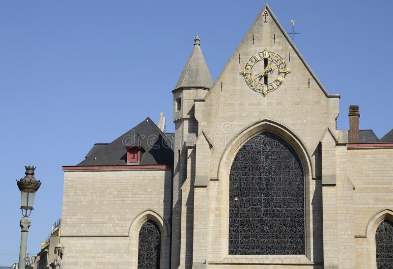 布鲁塞尔圣尼古拉斯教堂 免版税库存照片