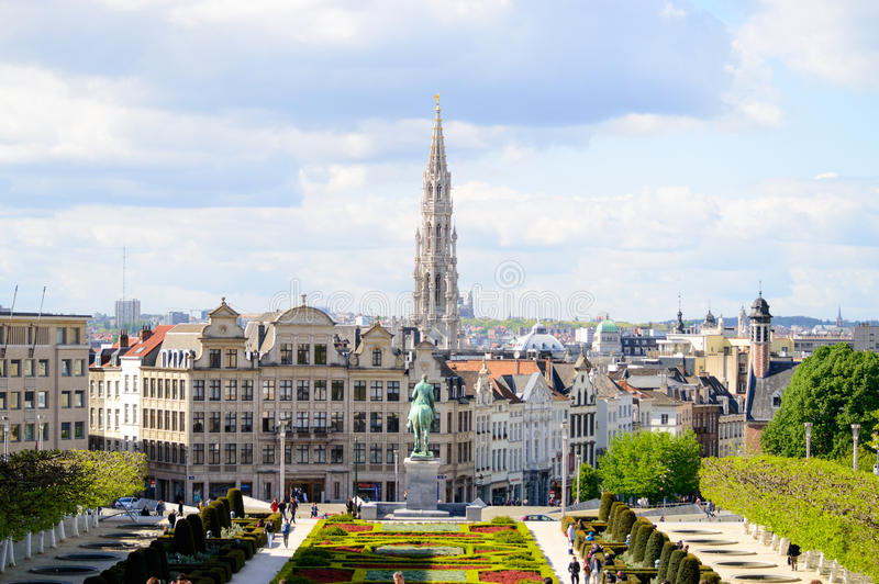 布鲁塞尔地平线 免版税库存照片