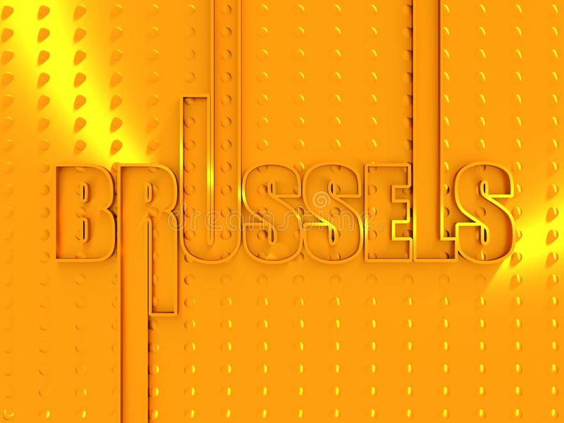 布鲁塞尔市名字 皇族释放例证