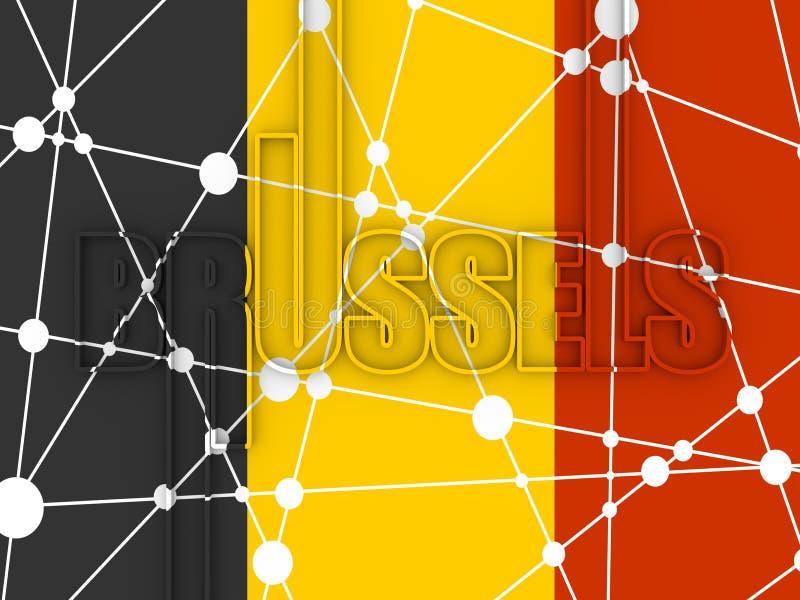 布鲁塞尔市名字 库存例证