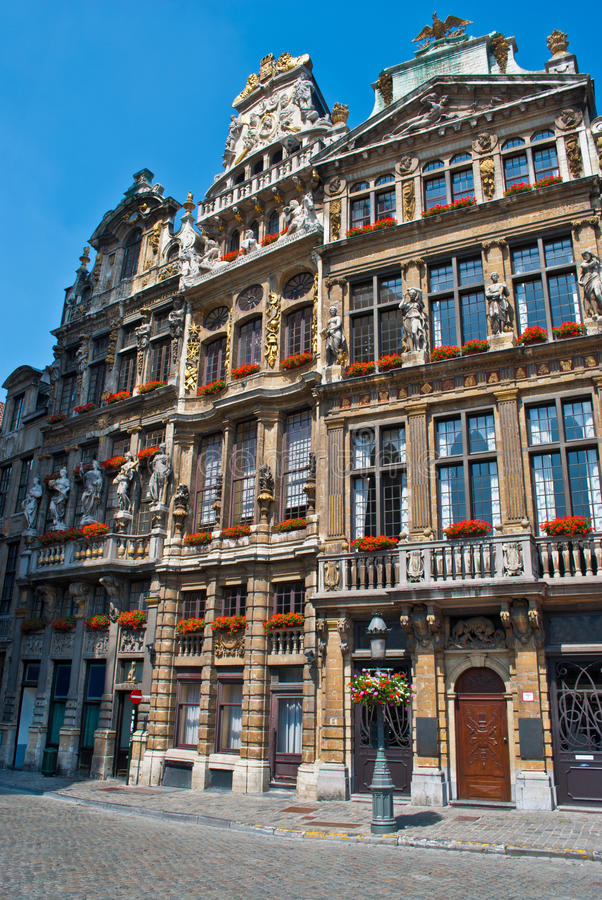布鲁塞尔房子 免版税库存图片