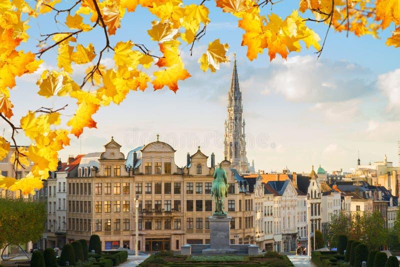 布鲁塞尔都市风景 库存照片