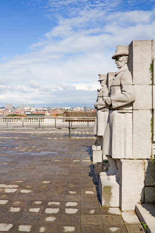 布鲁塞尔雕象 库存照片