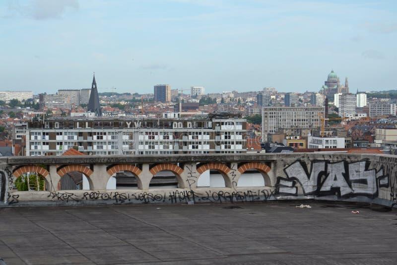 布鲁塞尔,比利时地平线  库存照片