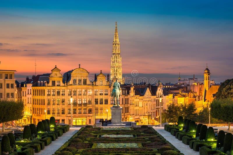 布鲁塞尔,比利时地平线  免版税库存图片