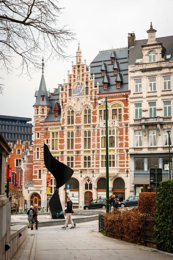 布鲁塞尔,比利时街道  免版税库存图片
