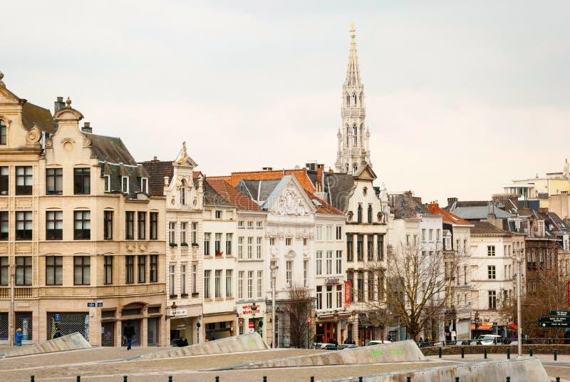 布鲁塞尔,比利时街道  库存照片