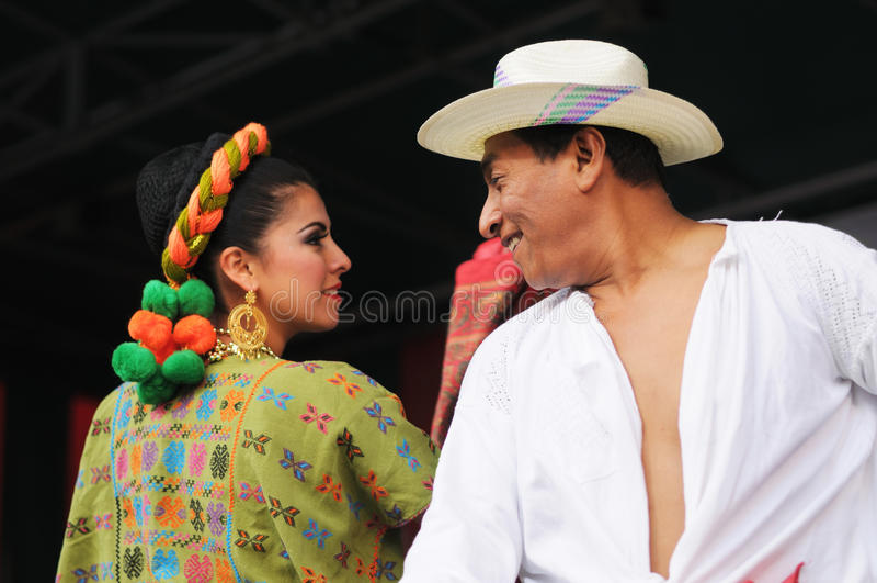 Xochicalli墨西哥民俗的芭蕾 库存图片