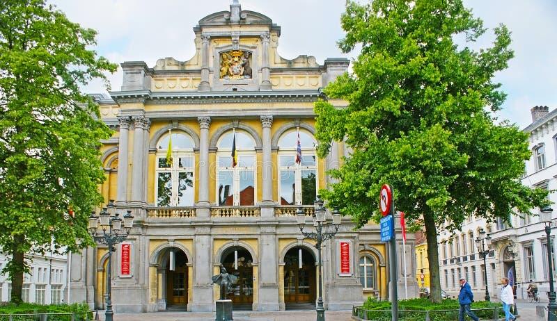 布鲁日城市剧院  库存图片