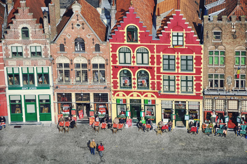 布鲁日市中心,比利时 免版税库存图片