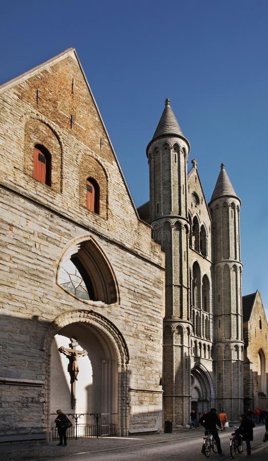 布鲁日我们教会的夫人 富兰德 比利时 免版税库存图片