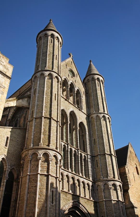 布鲁日我们教会的夫人 富兰德 比利时 库存图片