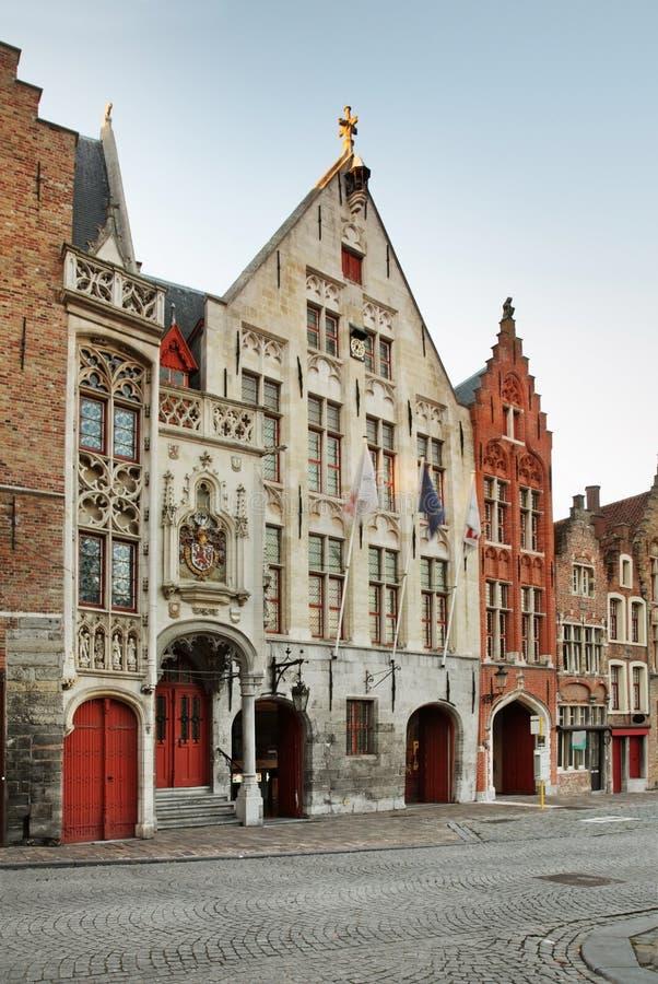 布鲁日街道 富兰德 比利时 库存照片