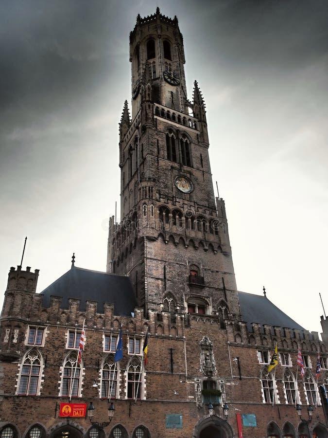 布鲁日资本和西弗拉芒省省大城市在比利时的弗拉芒大区,国家的西北部的 免版税库存照片