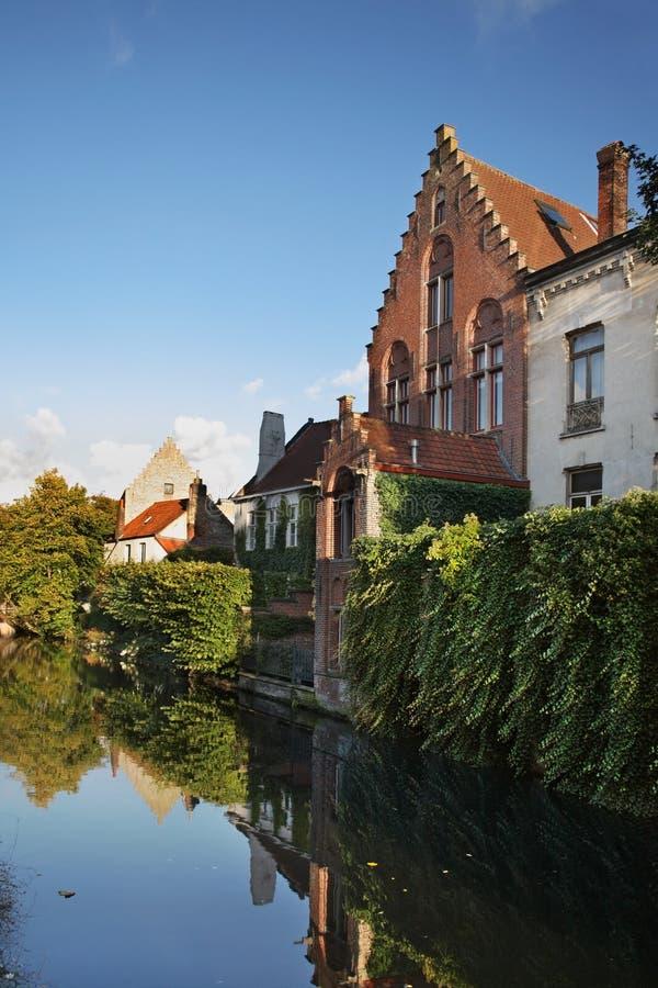 布鲁日运河 富兰德 比利时 库存图片