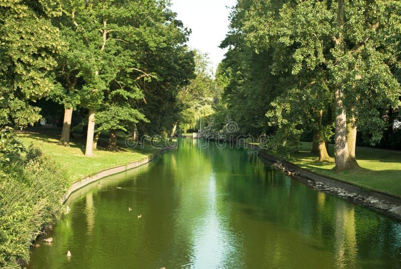 布鲁日运河 库存图片