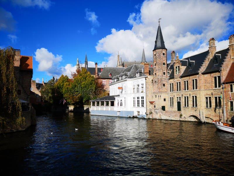布鲁日,布鲁基,比利时 比利时布鲁日 中世纪的城市 图库摄影