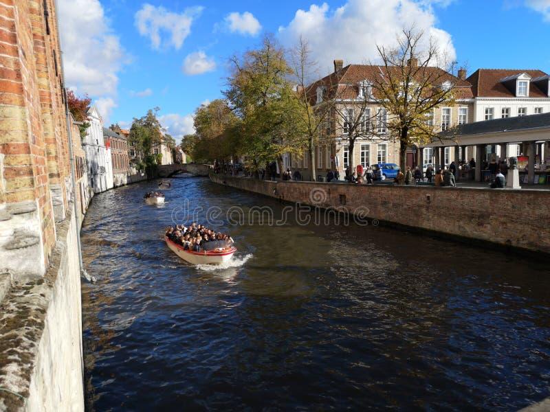 布鲁日,布鲁基,比利时 比利时布鲁日 中世纪的城市 免版税库存照片