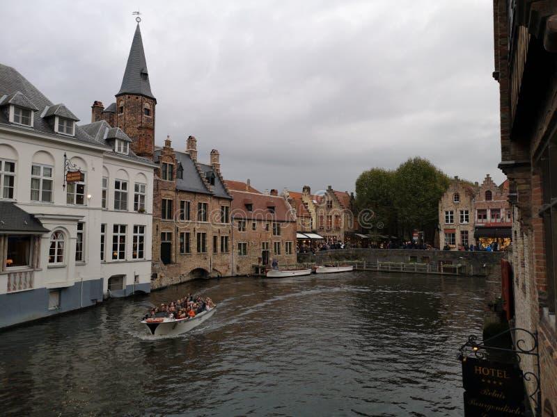 布鲁日,布鲁基,比利时 比利时布鲁日 中世纪的城市 库存图片