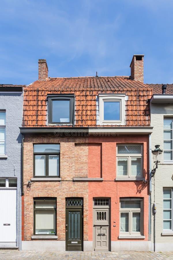 布鲁日,比利时中心市场  免版税图库摄影