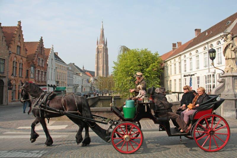 布鲁日,比利时街道  免版税库存照片