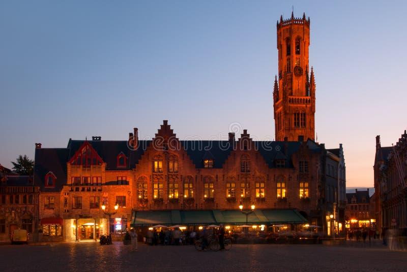 布鲁日,比利时钟楼 免版税库存图片
