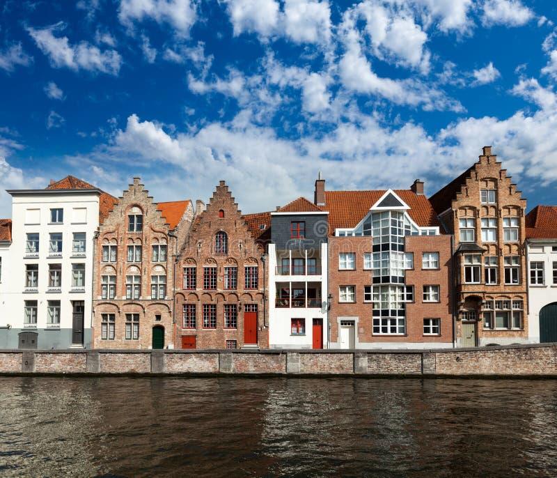 布鲁日(布鲁基)运河,比利时 库存图片