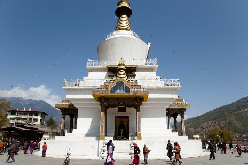 廷布,不丹- 2012年3月14日: 库存照片