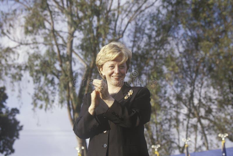 布什/切尼竞选的林恩切尼集会在Costa Mesa,加州, 2000年 免版税库存照片