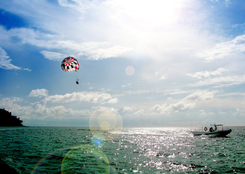 帆伞运动 免版税库存照片