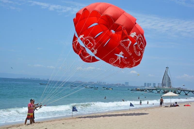帆伞运动 库存照片