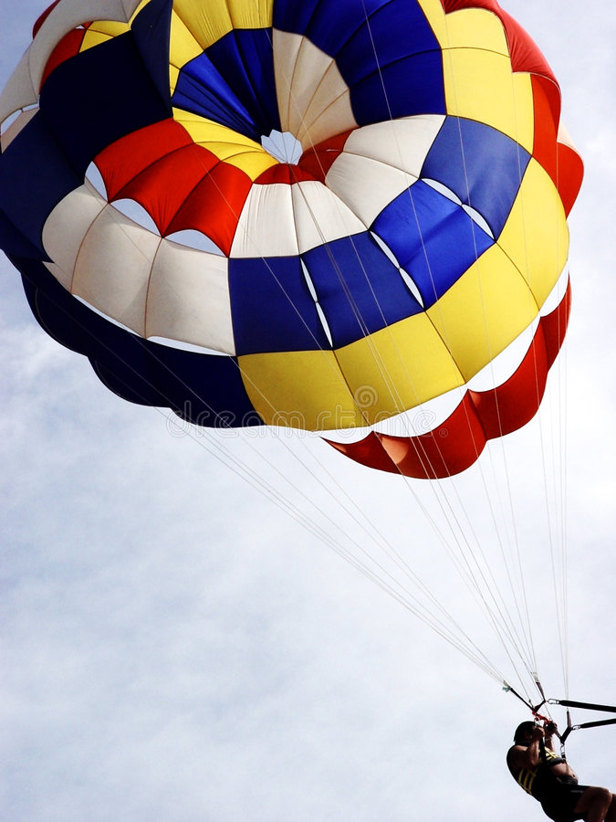 帆伞运动 免版税库存图片