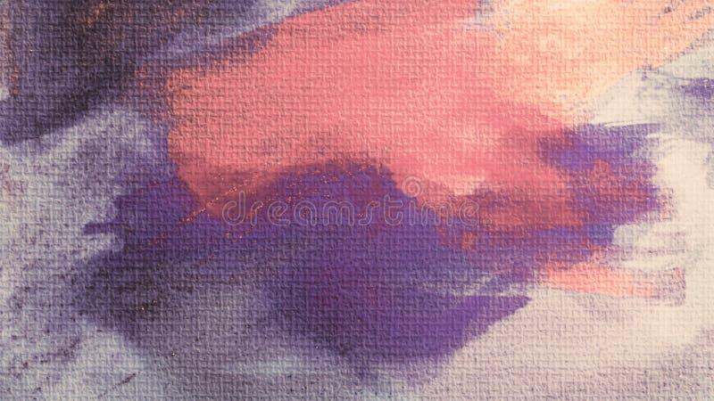 帆布印刷品 丙烯酸漆污点 创造性的抽象手画背景 在帆布的丙烯酸酯的绘的冲程 现代的艺术 向量例证